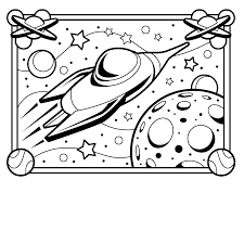 Small Picture Space coloring pages printable ColoringStar