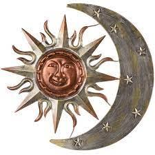 metal sun face moon wall decor 24