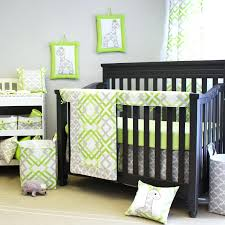 crib bedding neutral colors green and gray baby from sweet