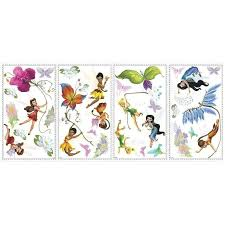 disney fairies wall decals with glitter