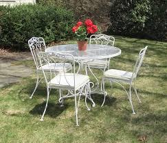 vintage wrought iron patio set by lyon