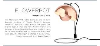 iconic lighting. perfect lighting verner panton flowerpot table lamp copper 1969 midcentury iconic  lighting u0026tradition andtraditon for iconic lighting