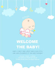 shower invitation templates angel baby shower invitation free angel baby shower