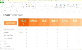 Microsoft Excel Schedule Template Excel Schedule Template