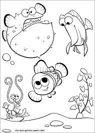 Nemo Coloring Sheet Finding Dory Dory Free Printable Nemo Coloring