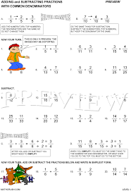 Adding And Subtracting Fractions Worksheets Free Worksheets for ...