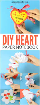 Lovely Diy Heart Notebook Craft For