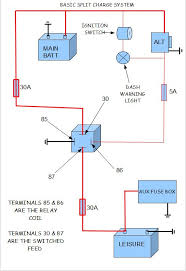 split charge wiring diagram wiring diagram and schematic design lucas alternator wiring diagram split charge relay