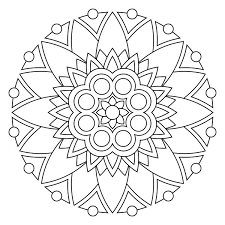 Easy Mandala Coloring Pages Printable Fun For Kids