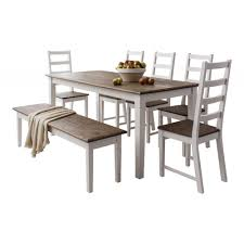 Pine Kitchen Tables And Chairs Canterbury Dining Table With 5 Chairs And Bench Noa Nani
