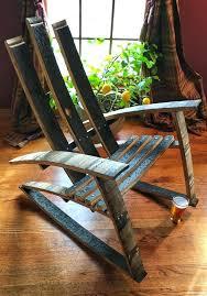 whiskey barrel rocking chair whiskey barrel rocking chair by on whiskey barrel rocking chair plans