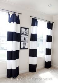 white stripe curtains bathroom home decoration awesome black and white horizontal striped curtains fr