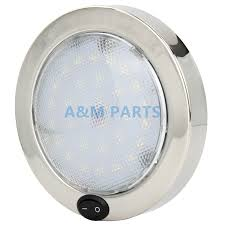 Us 32 92 25 Off Boat Caravan Rv Cabin Dome Light 12v P4 Led Marine Interior Light Stainless Steel Housing 140mm In Decorative Lamp From Automobiles