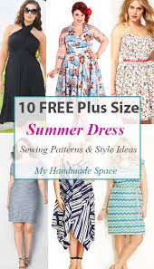 Plus Size Dress Patterns Magnificent 48 FREE Plus Size Summer Dress Patterns Free Patterns Pinterest