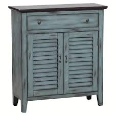 distressed blue furniture. Powell Furniture 14A2046 Two Tone Shutter Door Cabinet In Distressed Blue And Brown