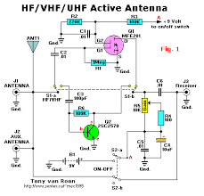 wideband active antenna all about circuits vhf uhf antenna circuit diagram at Vhf Antenna Wiring Diagram