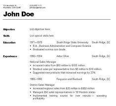 Type Of Resume Format Resume Sample