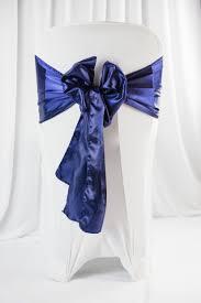 chair sash satin blue navy