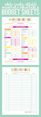 Keeping A Budget Worksheet Editable Meal Plan Printable Printable Budget Sheets