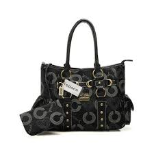 Value Coach Waverly Stud In Signature Medium Black Totes DNG