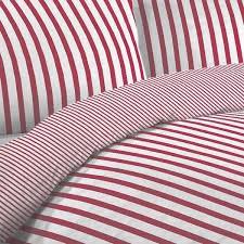 linens limited tik stripe duvet cover set red double