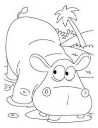 Small Picture Wild animal coloring page Hippopotamus Coloring page gifties