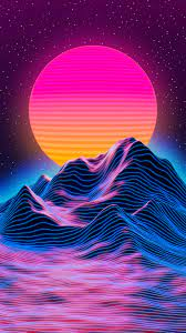 Neon Sunset Wallpaper (Page 1) - Line ...