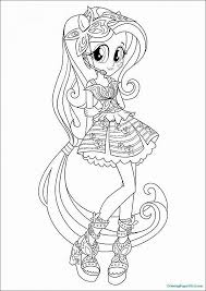 Equestria Girls Rainbow Dash Coloring Pages Free Equestria Girls