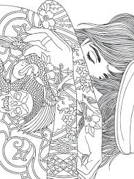 Coloring Pages For Girls Designs Homely Design Little Girl Coloring