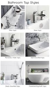 types of faucets for basins and baths bathroom tap styles