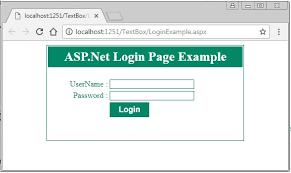 create simple login page in asp net c
