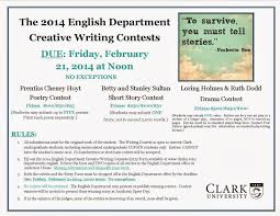 clarkenglishblog writing contests