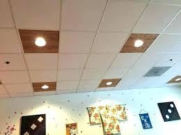 dropped ceiling led lights drop light fixtures lowes menards bat tile ideas lighting awesome