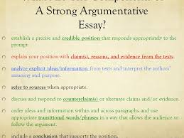 date aim what are the components of a strong what are the components of a strong argumentative essay