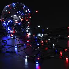 Red White Blue Solar Lights Pin On Christmas Decorations