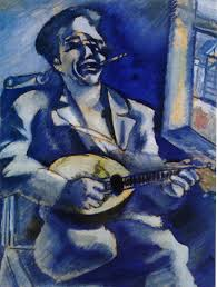 1914 marc chagall portrait of brother david with mandolin