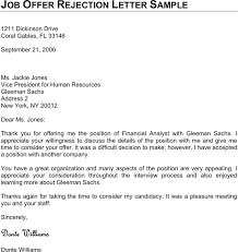 Rejection Letter Sample Template Free Download Speedy Template
