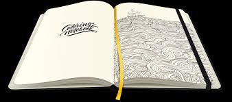 1139x503 paper notebook with coloring pages coloringnotebook