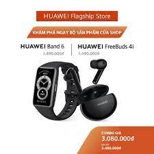Bộ Sản Phẩm Huawei (Vòng Đeo Tay Thông Minh HUAWEI Band 6 + Tai Nghe Không  Dây HUAWEI Freebuds 4i) | Hàng Chính Hãng - Đồng Hồ Thông Minh