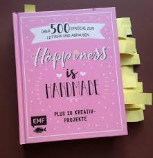 Rezension Happiness Is Handmade über 500 Sprüche Zum Lettern Und