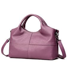 women pu soft leather handbags stitching solid large capacity shoulder bags gray cod