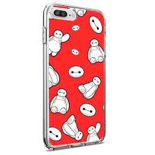 Amazoncom Disney Collection Soft Tpu Clear Case Baymax Red