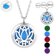 20mm 25mm 30mm <b>magnetic</b> essential oil diffuser necklace 316l ...