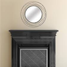 stratton home decor 31 in x 31 in round black with crystal