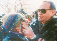 Image result for Chretien chokes protester