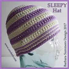 Sleepy Hat Crochet pattern by Barbara Summers