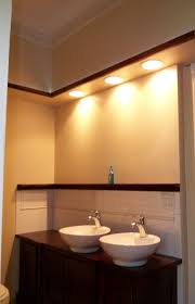 bathroom sink lighting. option for bathroom lighting under soffit sink l