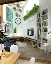 White Living Room Black L Shaped Sofa