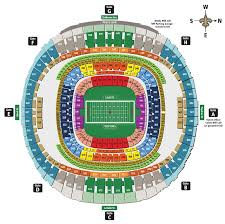 New Orleans Superdome Seating Chart 3d Nfl Stadium Seating Charts Stadiums Of Pro Football