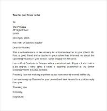 Cover Letter For Teaching Assistant Teaching Job Cover Letter Template